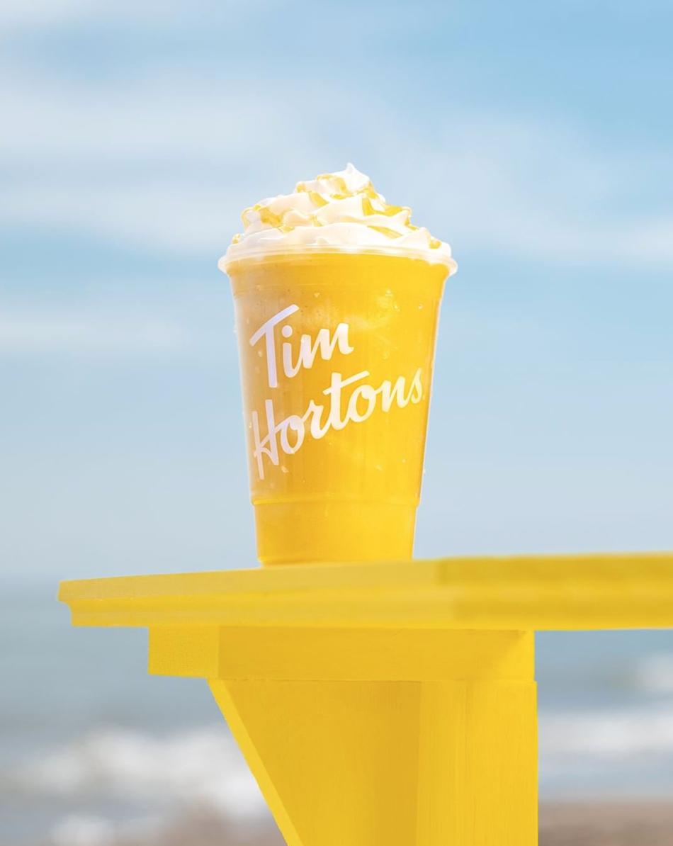 Tim Hortons Mango Creamy Chill beverage
