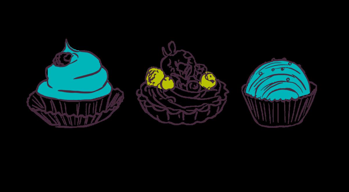 sketch of desserts